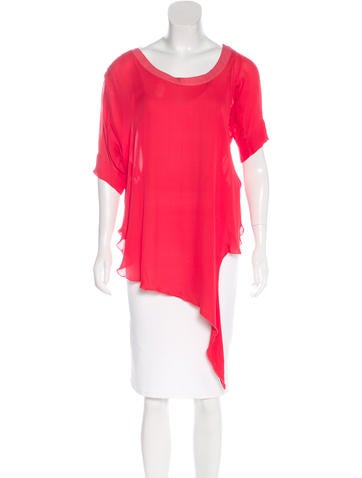 Chris Benz Silk Asymmetrical Top None