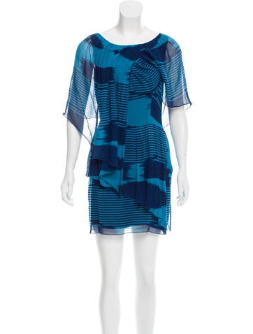 Chris Benz Striped Draped Dress None