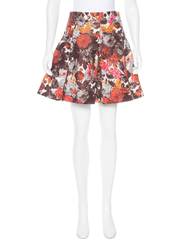 chris benz floral mini skirt clothing cas20387 the