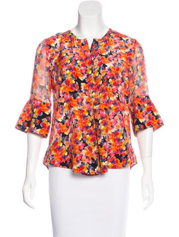 Chris Benz Silk Printed Top None