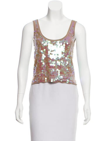 Chris Benz Embellished Sleeveless Top w/ Tags None