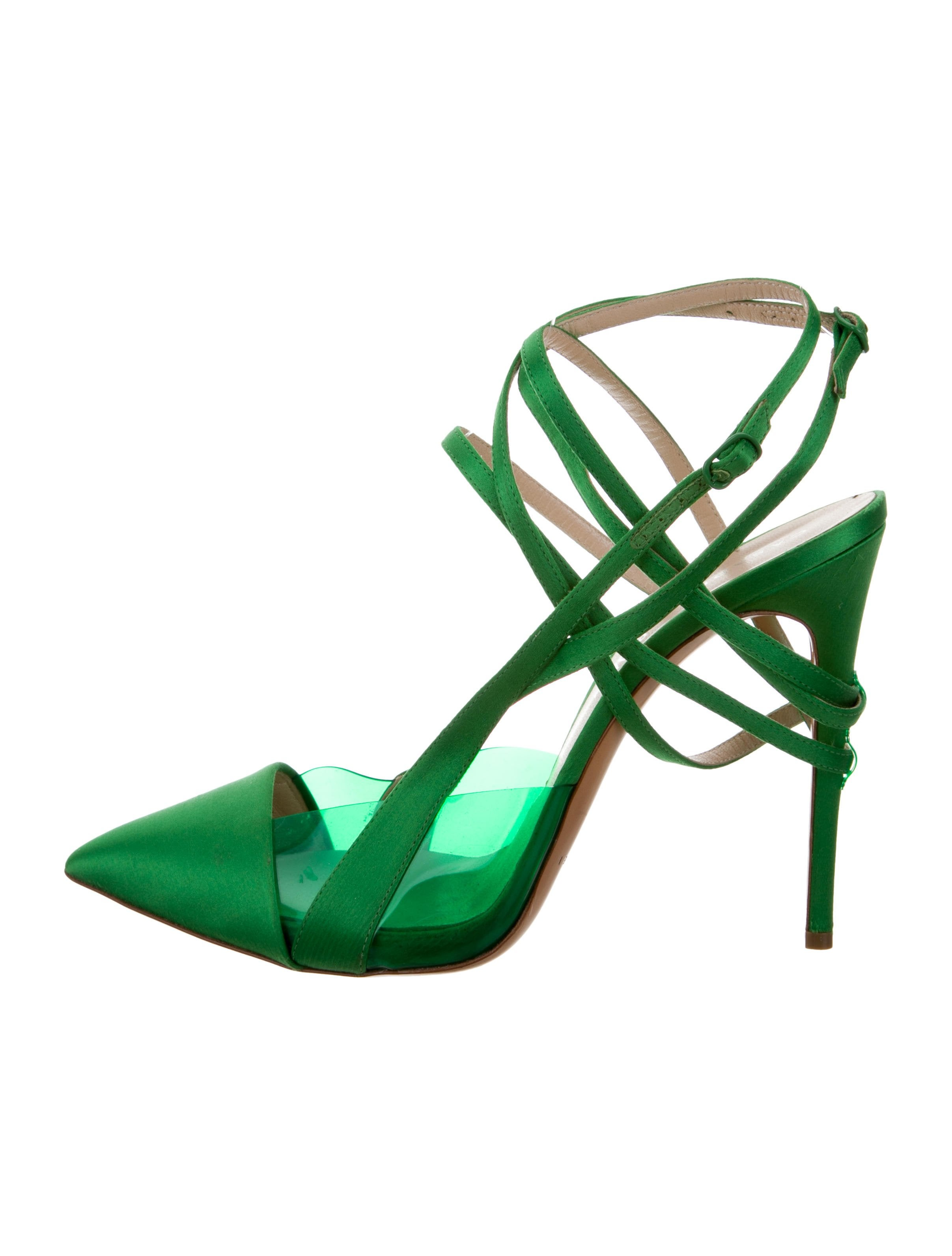 Casadei x Prabal Gurung Satin PVC-Accented Pumps supply cheap online outlet visa payment othxKf