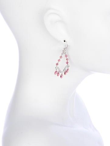 6ctw Tourmaline & Diamond Chandelier Earrings