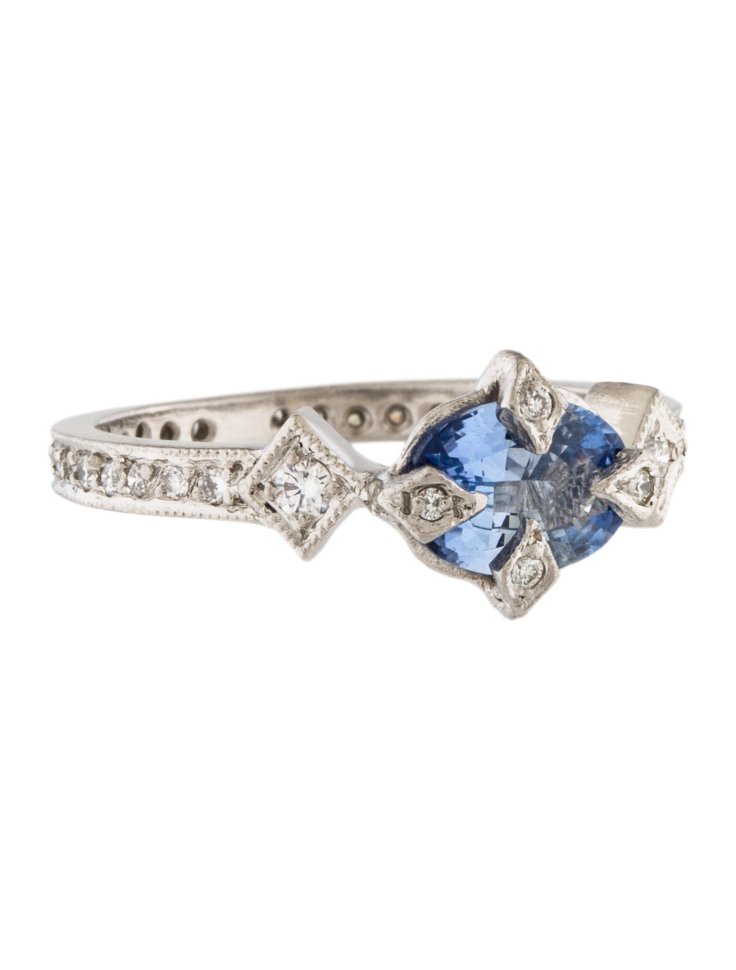 cathy waterman platinum sapphire antique ring