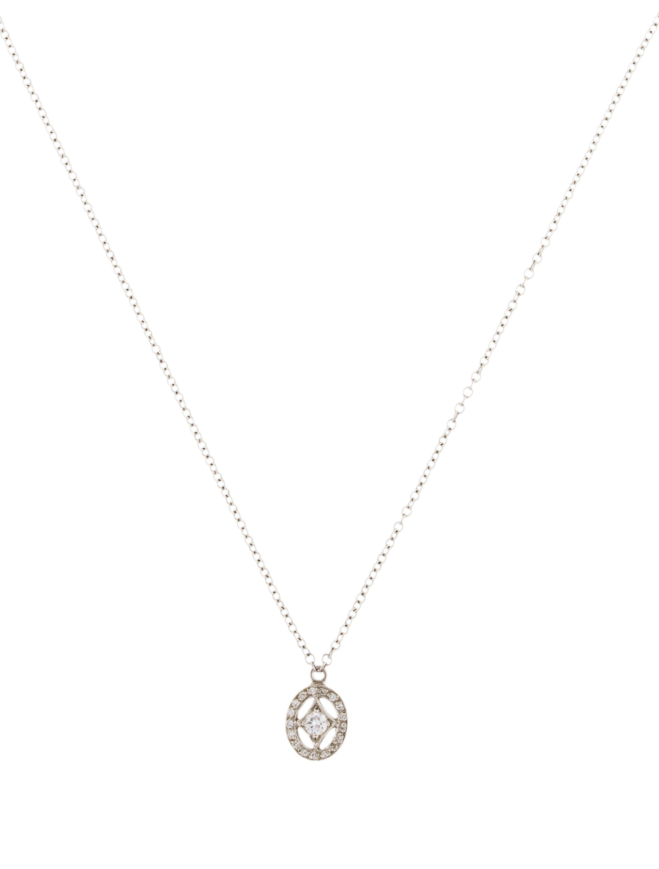 edwardian floral pendant diamond necklace platinum