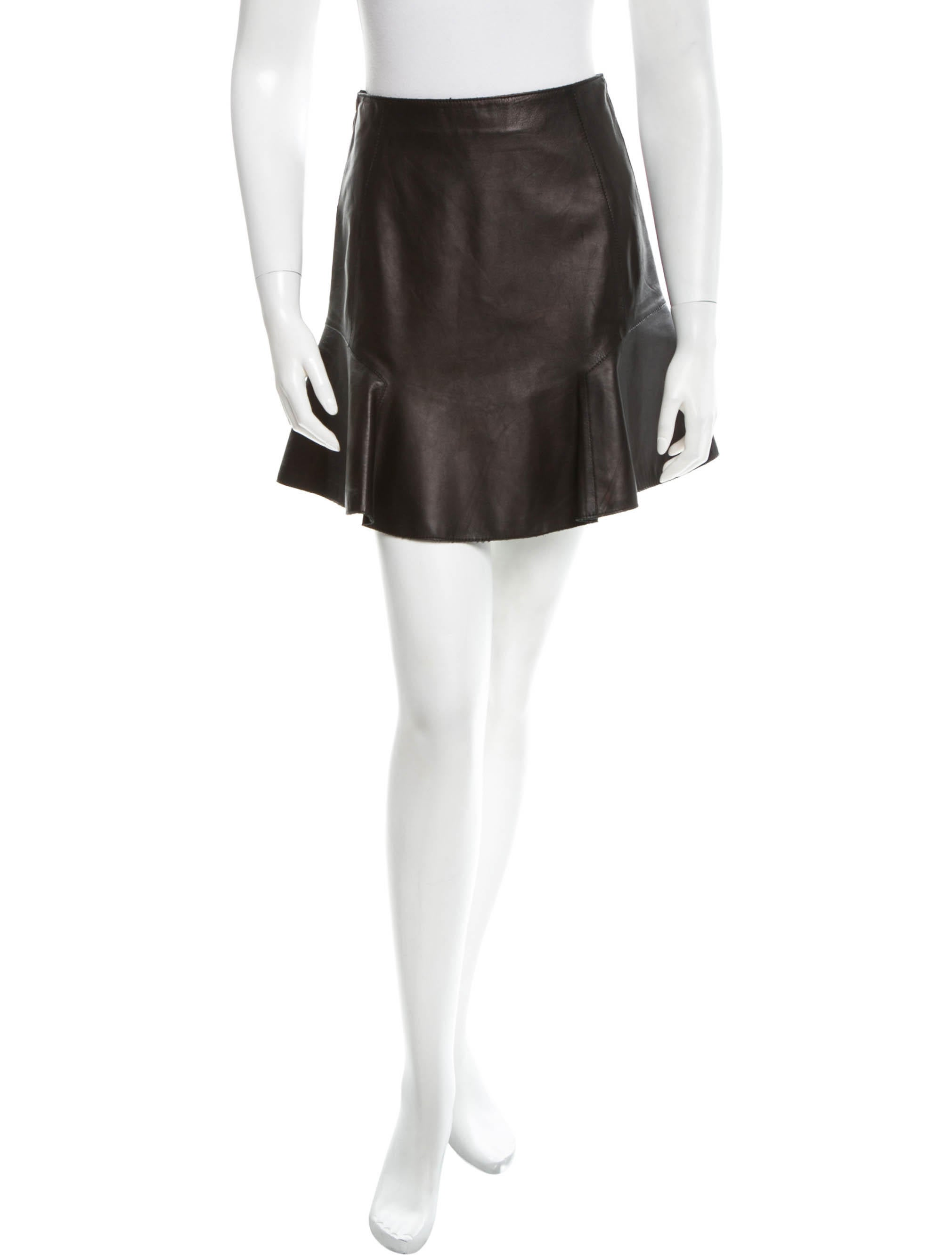 carven flared leather skirt clothing cav22390 the