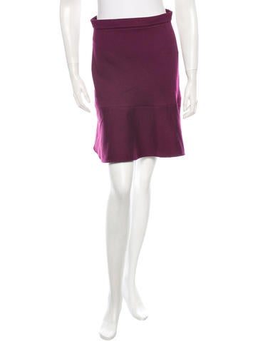 Carven Fluted Stretch Skirt w/ Tags None