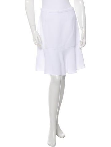 Carven Flounce Hem Knee-Length Skirt w/ Tags None