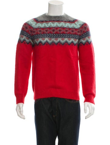 Carven Mohair Patterned Knit Sweater None