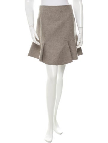 Carven Wool Flared Skirt None