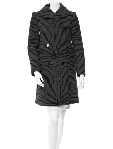 Carven Double-Breasted Wool Coat w/ Tags None
