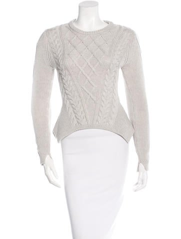 Carven Wool Cable-Knit Sweater None