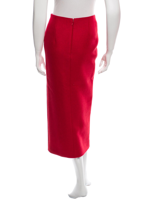 carven wool blend midi skirt clothing cav24193 the
