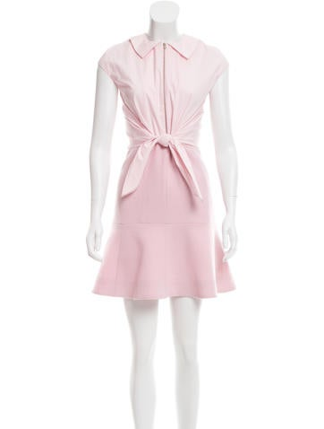 Carven Fluted Wool Dress w/ Tags None
