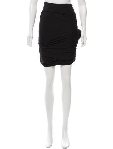 Carven Draped Tiered Skirt None