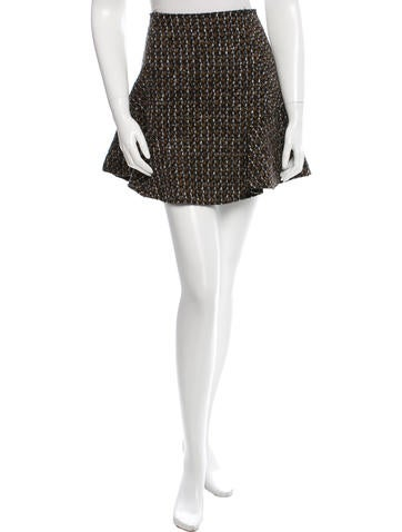 Carven Tweed Mini Skirt None