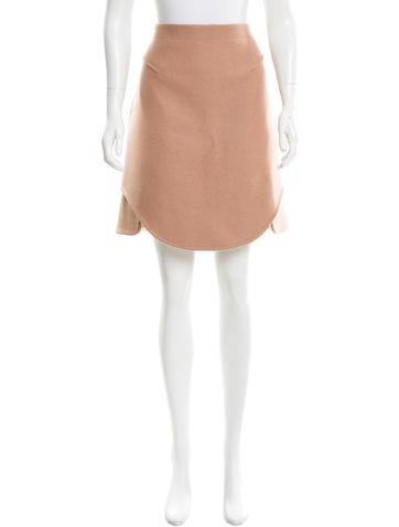 Carven Wool-Blend Knee-Length Skirt None