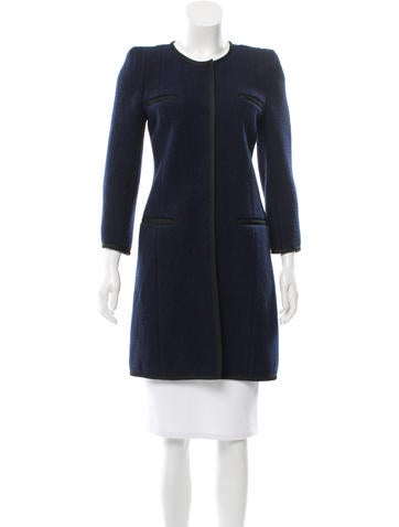 Carven Wool Knee-Length Jacket None