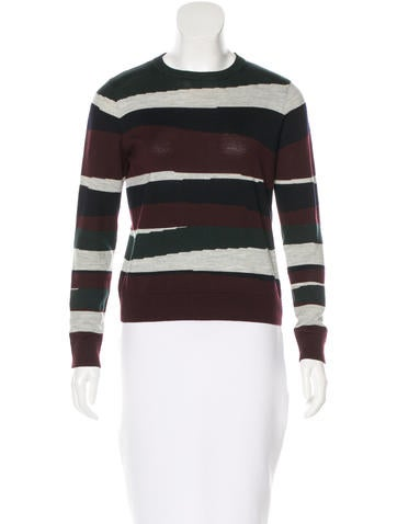 Carven Wool Printed Sweater None