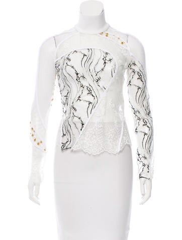 Carven Lace Turtleneck Top w/ Tags None