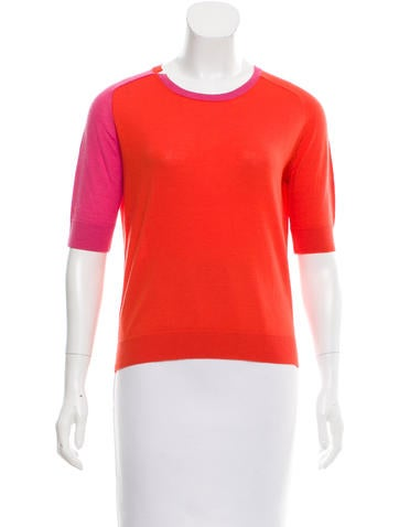 Carven Wool Colorblock Top None