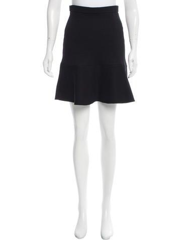Carven Flounced Mini Skirt None