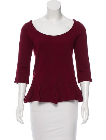 Carven Fleece Peplum Top None