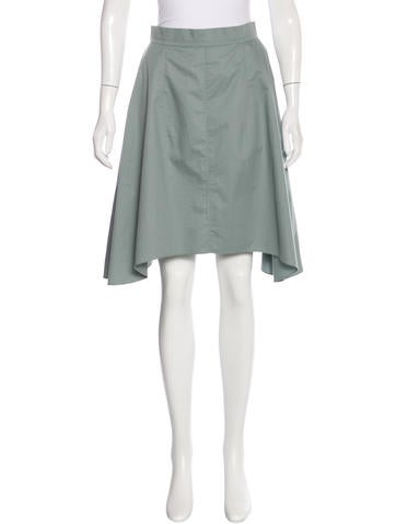 Carven Mid-Rise A-Line Skirt None