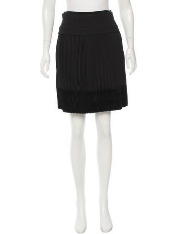 Carven Velvet Hem Pleated Skirt w/ Tags None