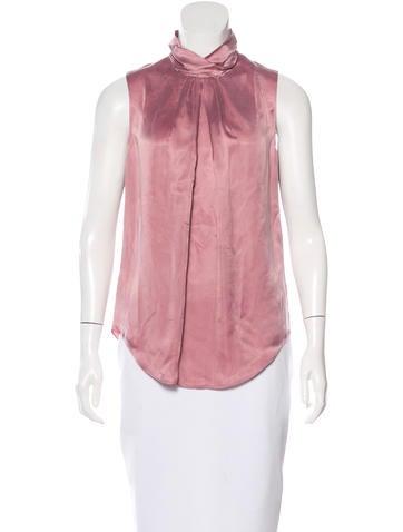 Carven Sleeveless Mock Neck Top Clothing Cav24948