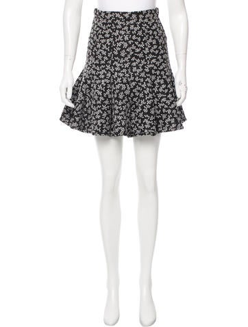 Carven Printed Mini Skirt w/ Tags None