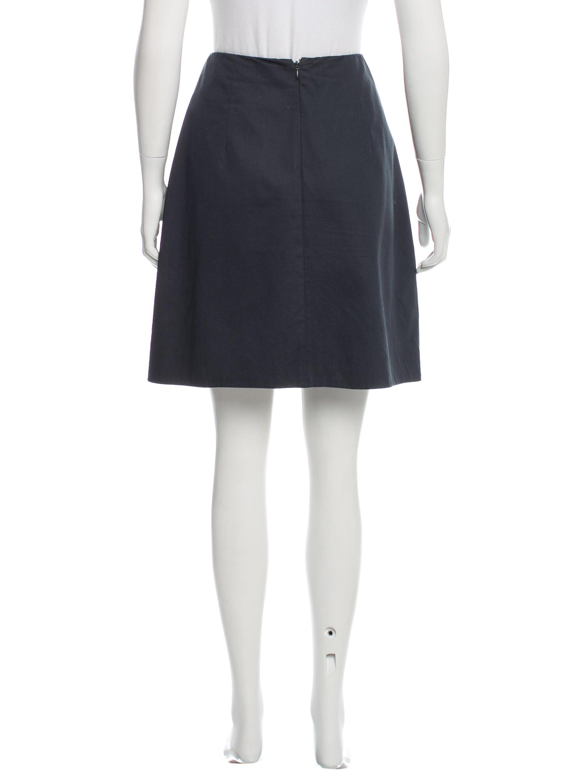 carven pleated knee length skirt clothing cav25098
