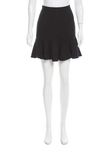Carven Fluted Knee-Length Skirt None