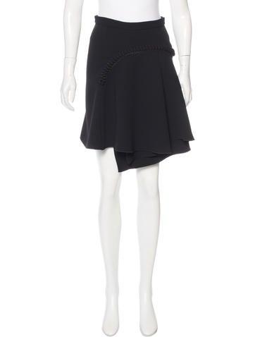 Carven Pompom Asymmetrical Skirt None