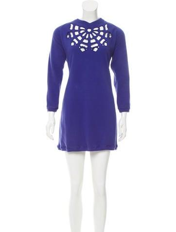 Carven Laser-Cut Sweater Dress None