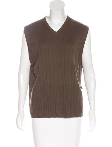 Carven Knit V-Neck Top None