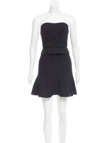 Carven Strapless Crepe Dress w/ Tags None