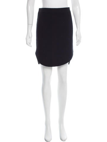 Carven Knee-Length Wool Skirt None