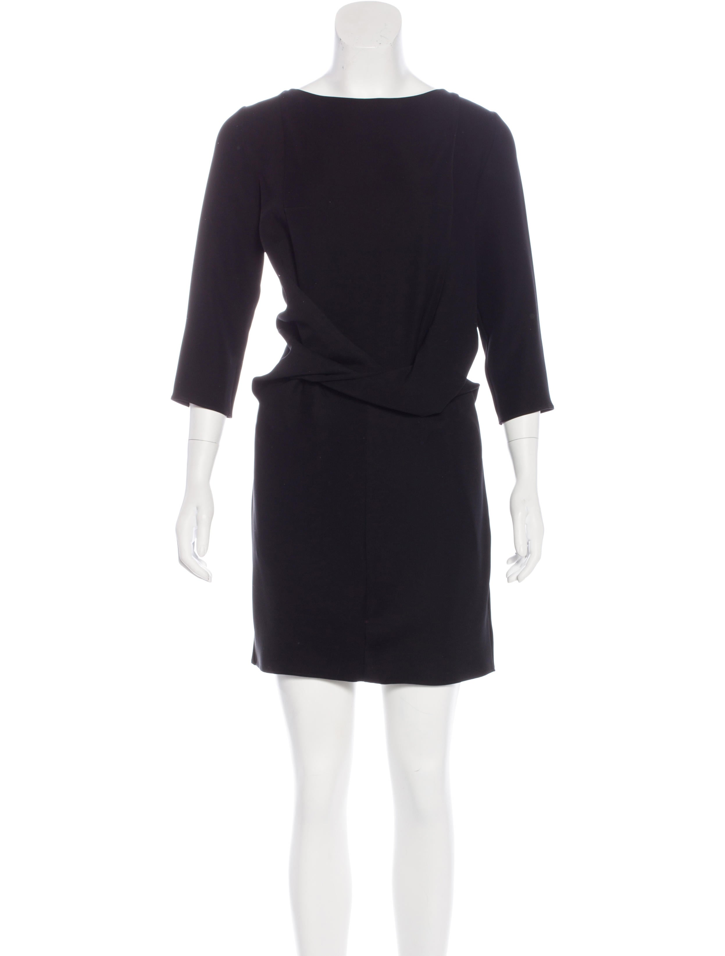 Carven Three Quarter Sleeve Mini Dress Clothing  : CAV257371enlarged from www.therealreal.com size 2494 x 3290 jpeg 156kB