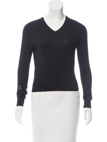 Carven V-Neck Knit Sweater None