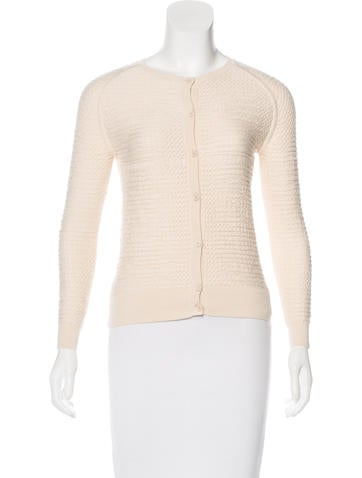 Carven Knit Cropped Cardigan None