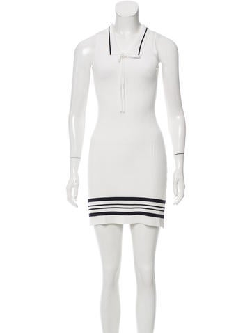 Carven Sleeveless Sweater Dress None