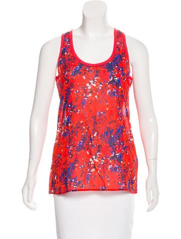 Carven Sleeveless Printed Top None