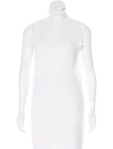 Carven Sleeveless Knit Top None