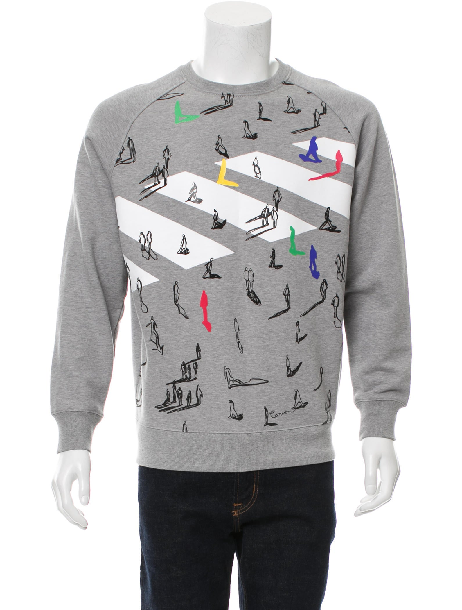 Carven Graphic Crew Neck Sweatshirt Clothing Cav26244 The Realreal