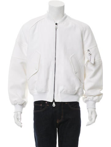 Carven Rib Knit-Trimmed Bomber Jacket None