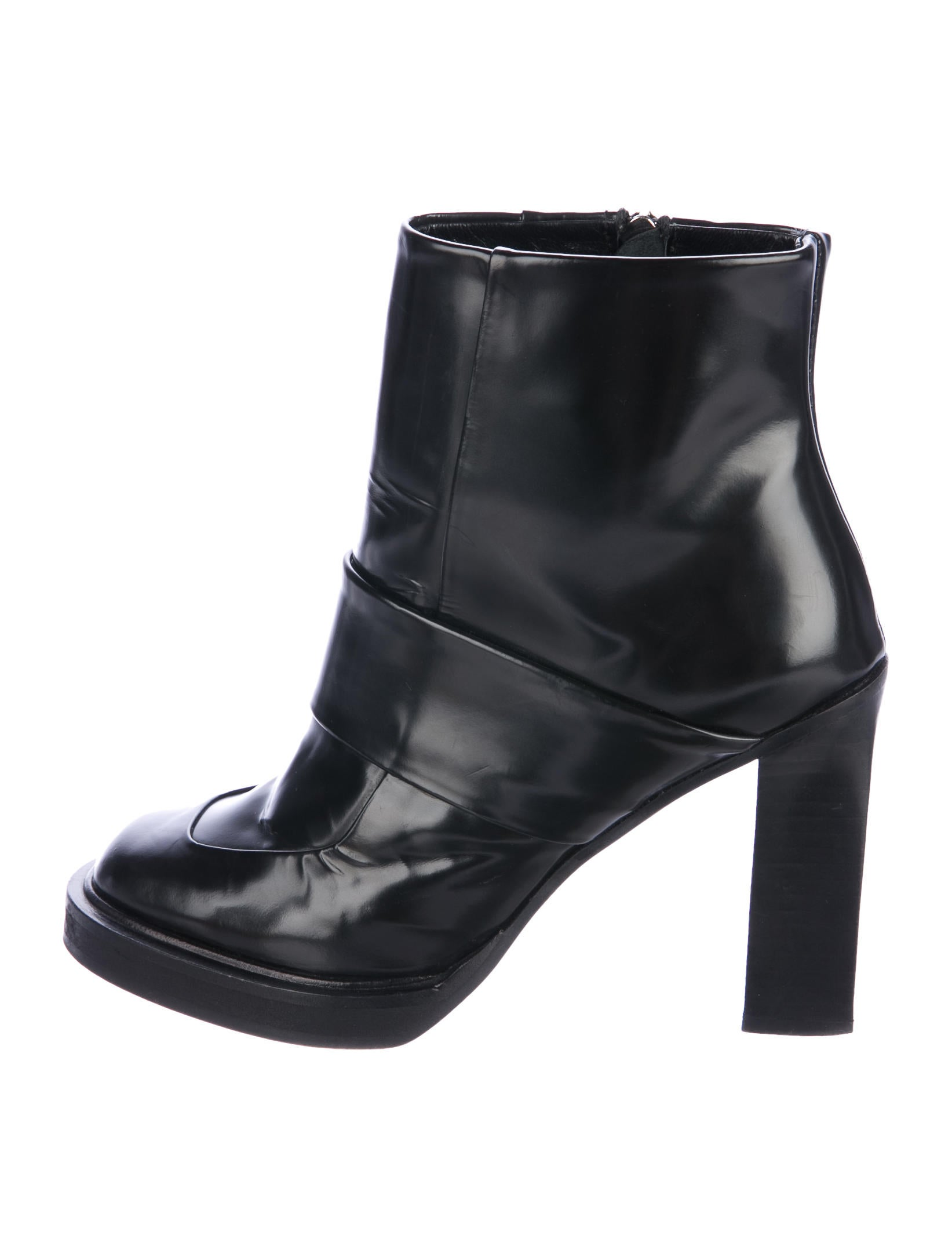 outlet online shop cheap price wholesale Carven Leather Round-Toe Ankle Boots 2014 newest cheap online zA2oYNjays