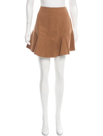Carven Wool Flounce Skirt None
