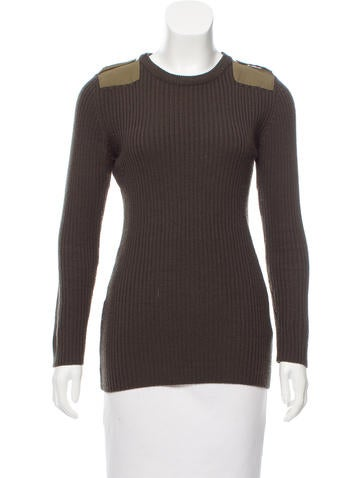 Carven Ribbed Wool Sweater None
