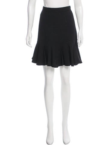 Carven Knee-Length Wool-Blend Skirt None